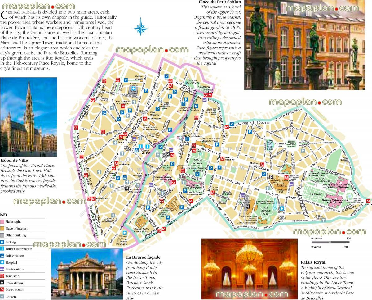 Brussels sights map