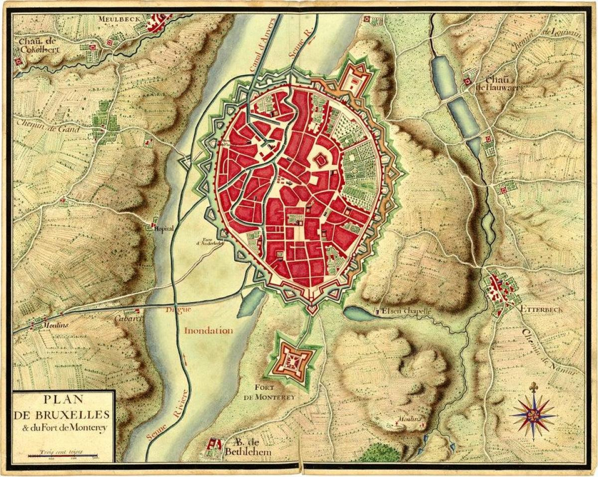 Brussels historical map