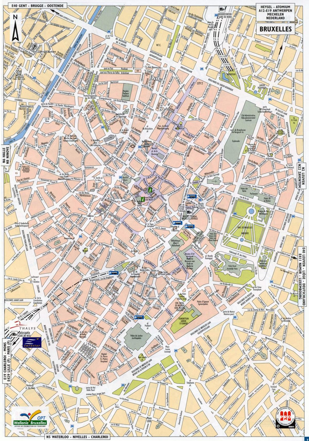 Brussels streets map