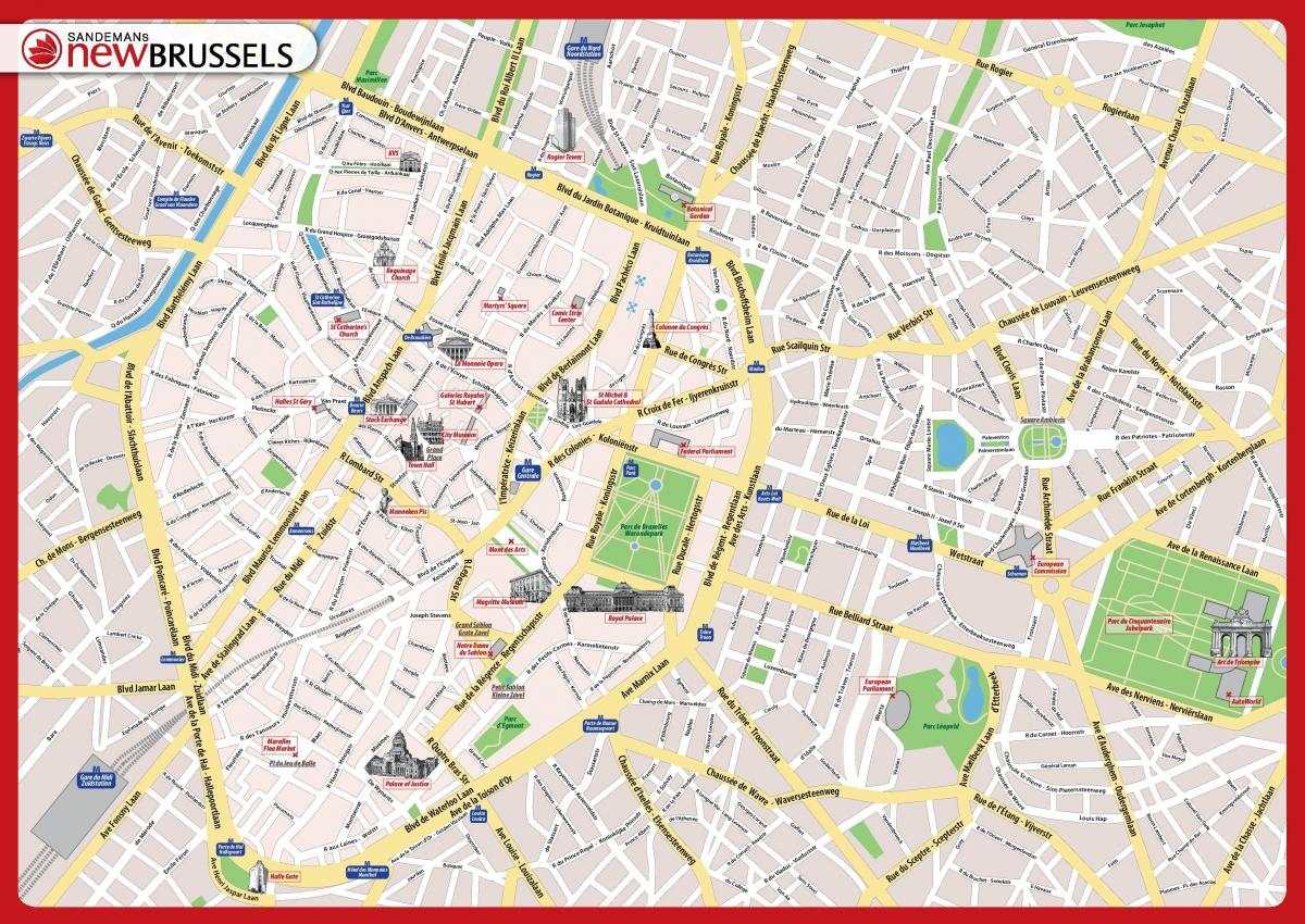 Brussels sightseeing map