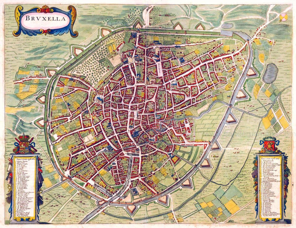 Brussels antique map