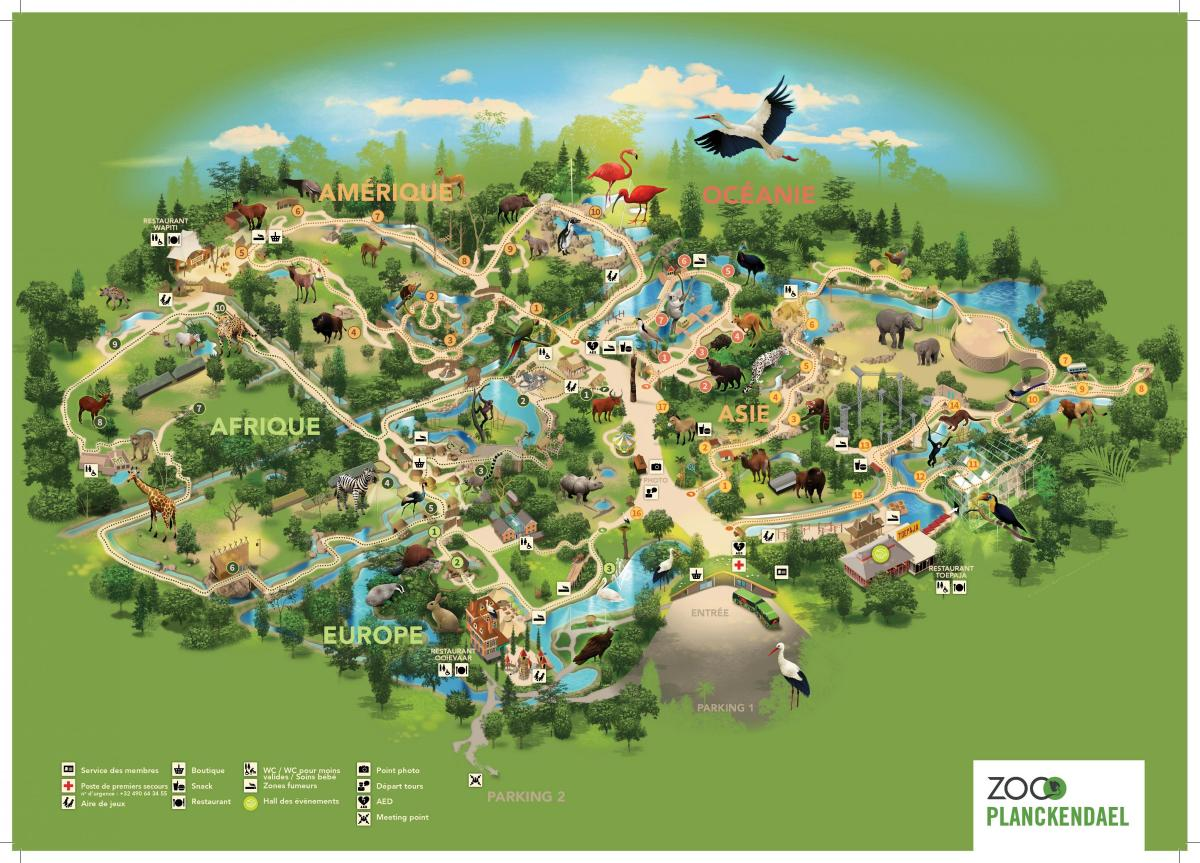 Brussels zoo park map